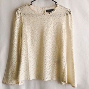 Banana Republic Lace Overlay Top